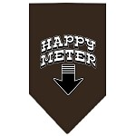 Happy Meter Screen Print Bandana Cocoa Small